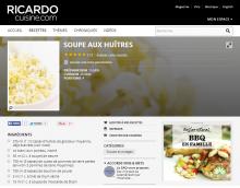 Chaudrée aux huîtres BeauSoleil de Ricardo
